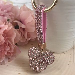 Nwt Mickey Mouse crystal keychain